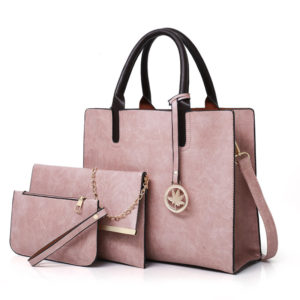 Set of 3 Matching Leather Bags for Women