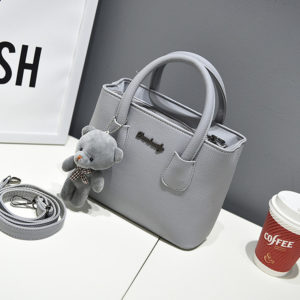Women's Fashion Shoulder Bags with Plush Bear