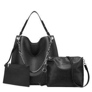 Set of 3 Matching Soft Artificial Leather Bags