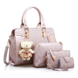 Set of 3 Cute Matching Bags with Wallet