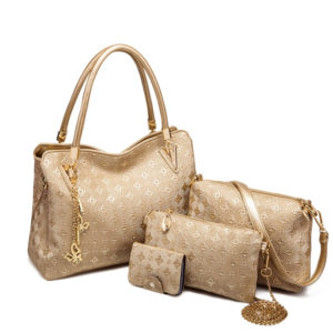 Set of 3 Matching Bags for Women with Wallet Accessory